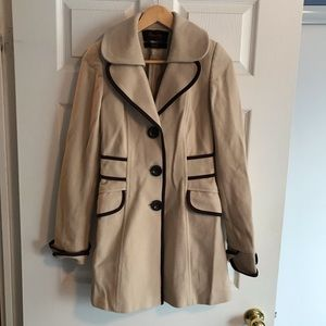 Camel colour wool coat size small